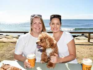 Out and about at Moffat Beach are Jenny Burg and