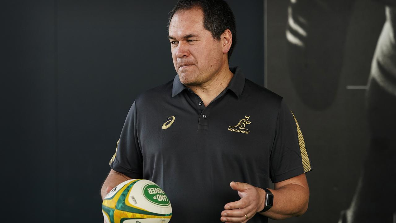 SYDNEY, AUSTRALIA - JANUARY 21: New Australian Rugby Coach Dave Rennie looks on during the Rugby Australia Welcome To Country at Rugby Australia HQ on January 21, 2020 in Sydney, Australia. (Photo by Mark Evans/Getty Images)