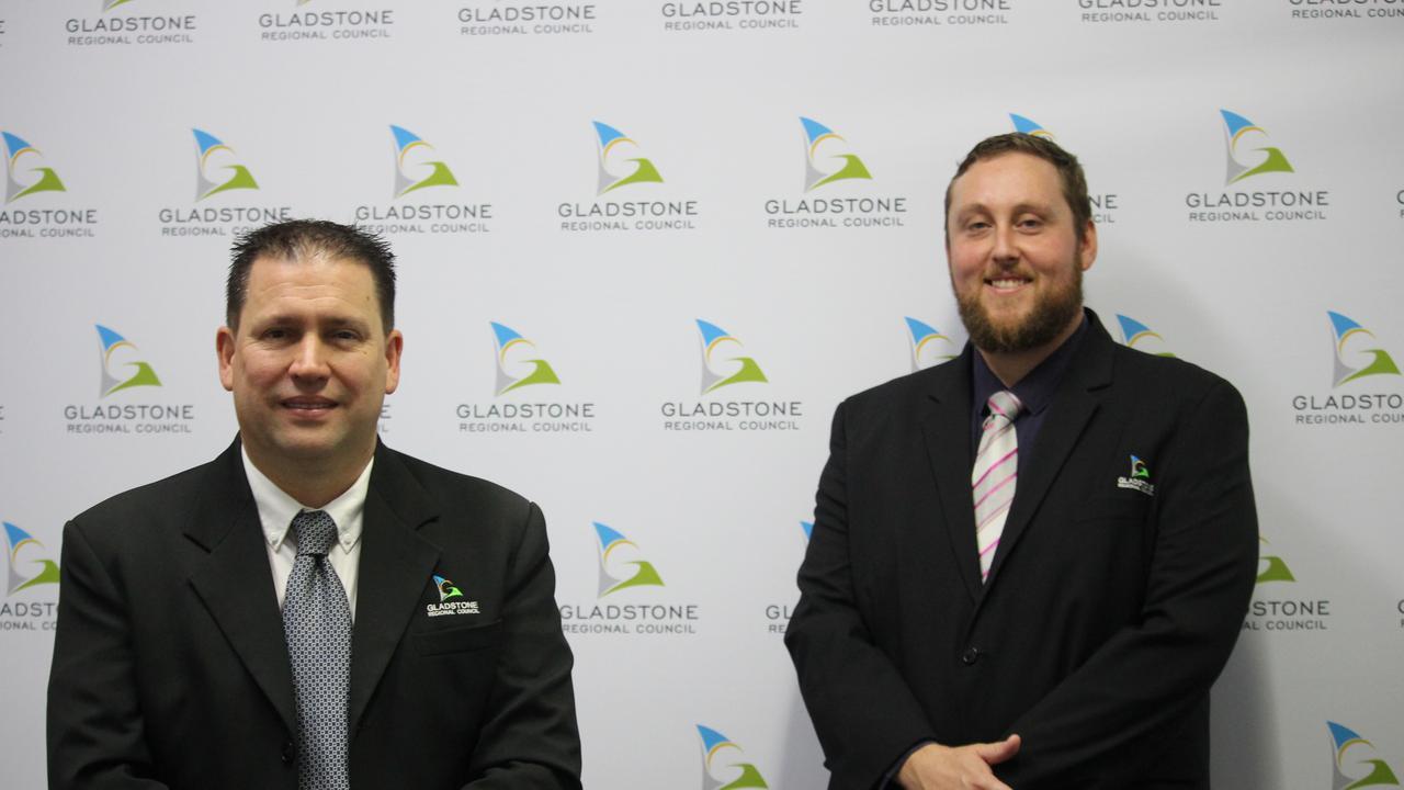 Gladstone Regional Council Mayor Matt Burnett and Deputy Mayor Kahn Goodluck.