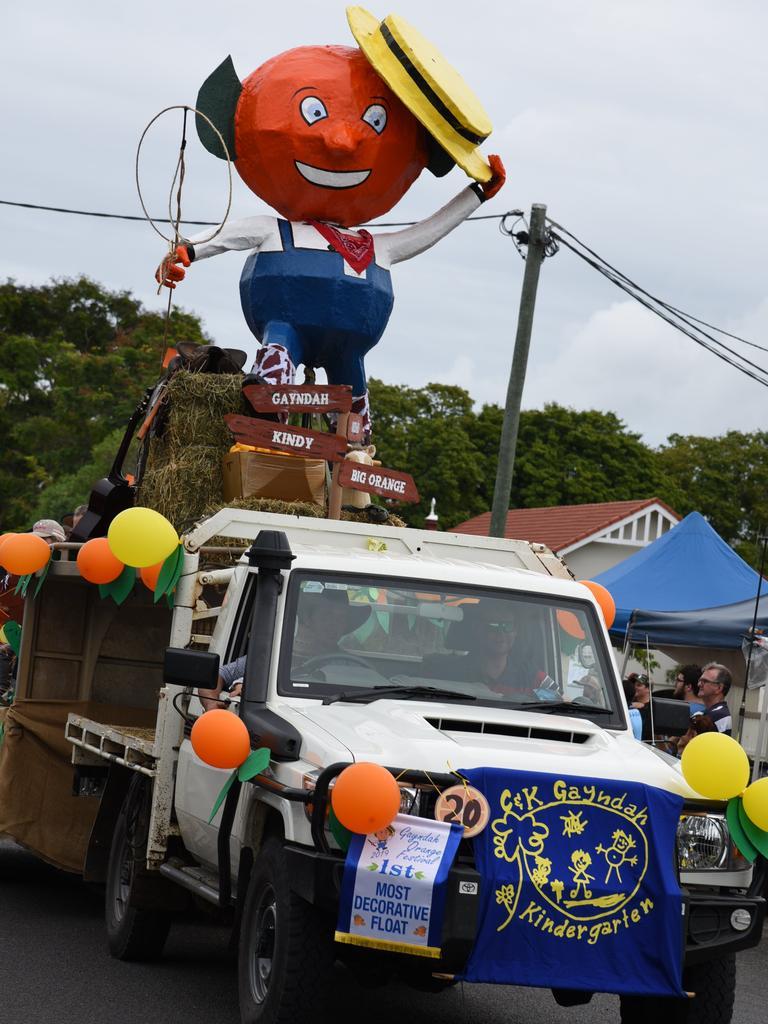 The Gayndah Orange Festival parade in 2019. Picture: Alex Treacy