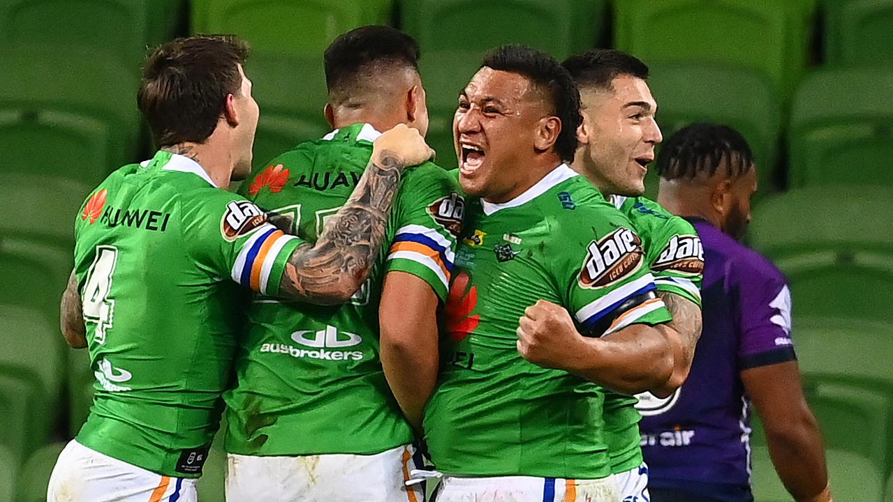 The Canberra Raiders have won their last three games against the Storm. Picture: Getty Images.