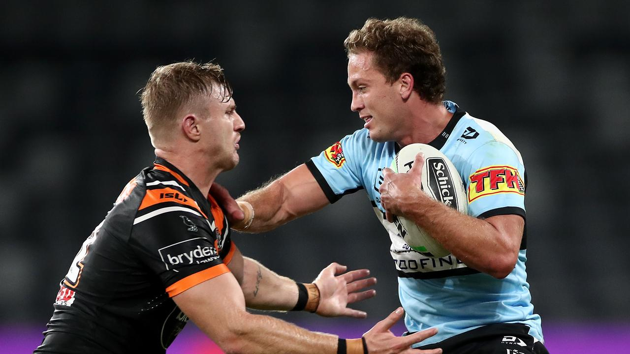 Matt Moylan also had came back from injury, playing his first game in almost 300 days. Picture: Getty Images.