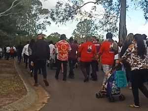 Hundreds attend 'unfair' funeral despite limits