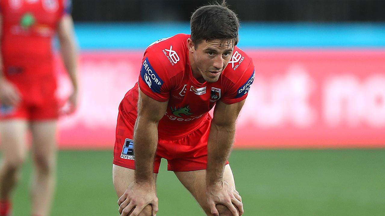 Ben Hunt could be axed by the Dragons after a poor start to the season. Picture: Getty Images.