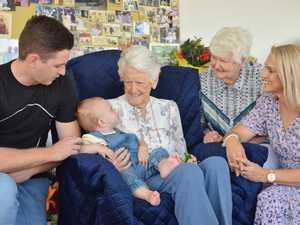 FIVE GENERATIONS: Great-grandson Cameron Doyle