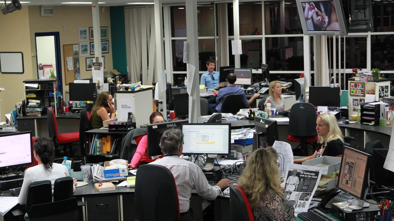 MANY FACES OF THE NEWSROOM: The Sunshine Coast Daily newsroom in 2014. Photo: Brett Wortman / Sunshine Coast Daily