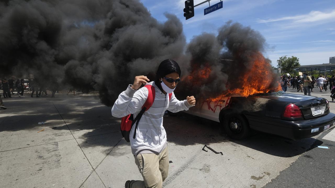 Protesters say the police are using aggressive tactics. Picture: AP Photo/Ringo H.W. Chiu