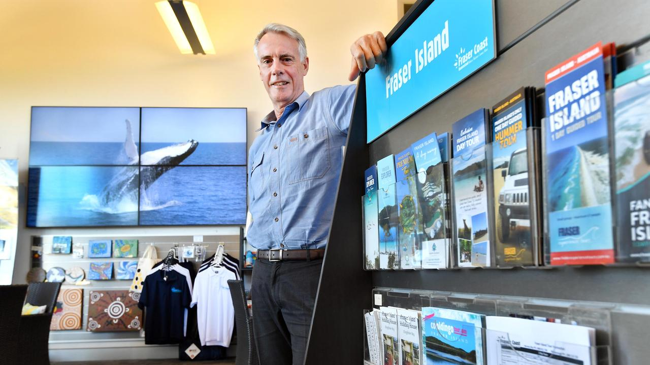 Martin Simons (g/mgr. Fraser Coast Tourism & Events) at the Tourist Information Centre.Photo: Alistair Brightman