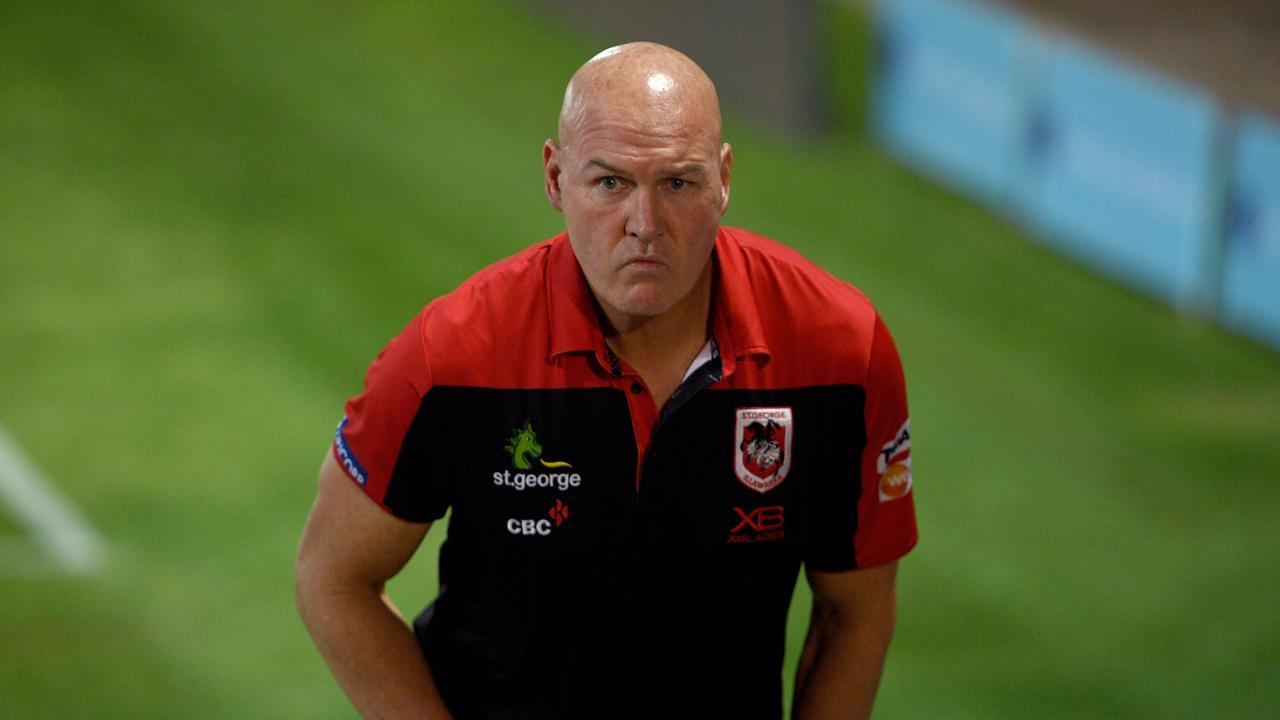 Dragons coach Paul McGregor is under the pump after Saturday's loss to the Warriors. Picture: Dan Himbrechts/AAP