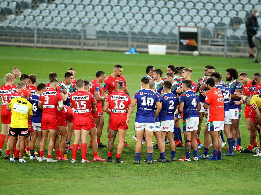 The Dragons showed brilliant sportsmanship even in defeat.