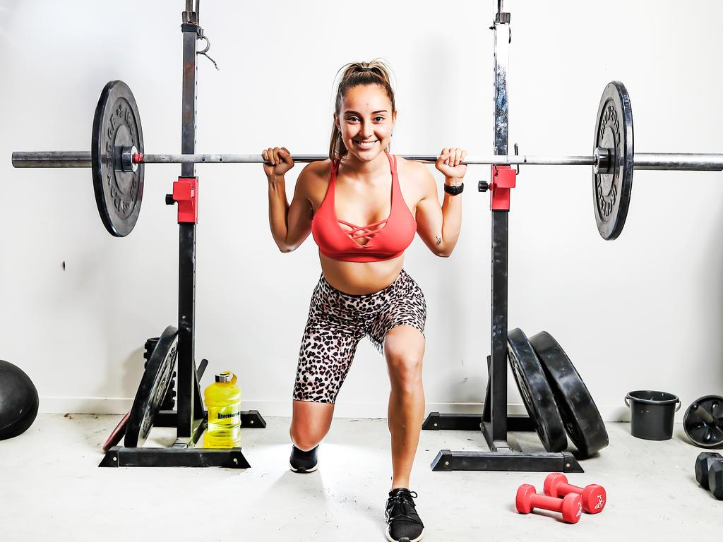 Marlette Le Feuvre said that as the lockout loomed, she was desperate to find equipment to continue her training. She was eventually able to borrow some from a gym. Picture: Nigel Hallett