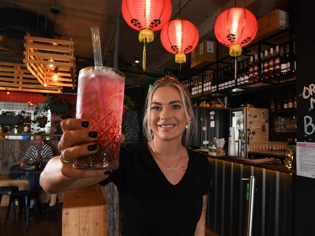Rice Boi Mooloolaba staff excited about the reopening include Josefine Skarstrom, who is looking forward to welcoming customers. Photo: Warren Lynam