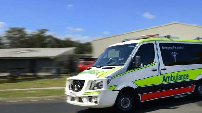 Critical care paramedics rush man to hospital