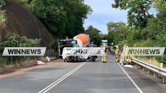 Driver seriously injured as cement truck slams into ute