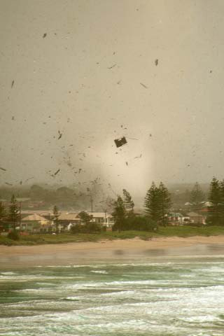 The tornado that hit Lennox Head in 2010.
