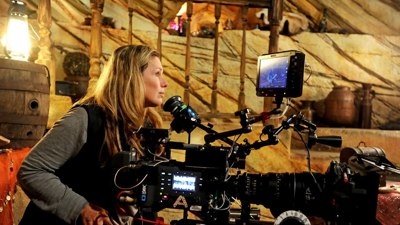 Film production is seeking help to restart after the COVID-19 shutdown. Camera operator Miranda Porter on the set of Mako Island of secrets at Village Roadshow studios. Picture: John Gass