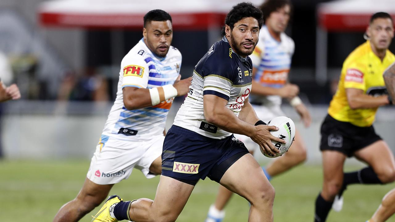 Jason Taumalolo led the way for the Cowboys again. Picture: Cameron Laird