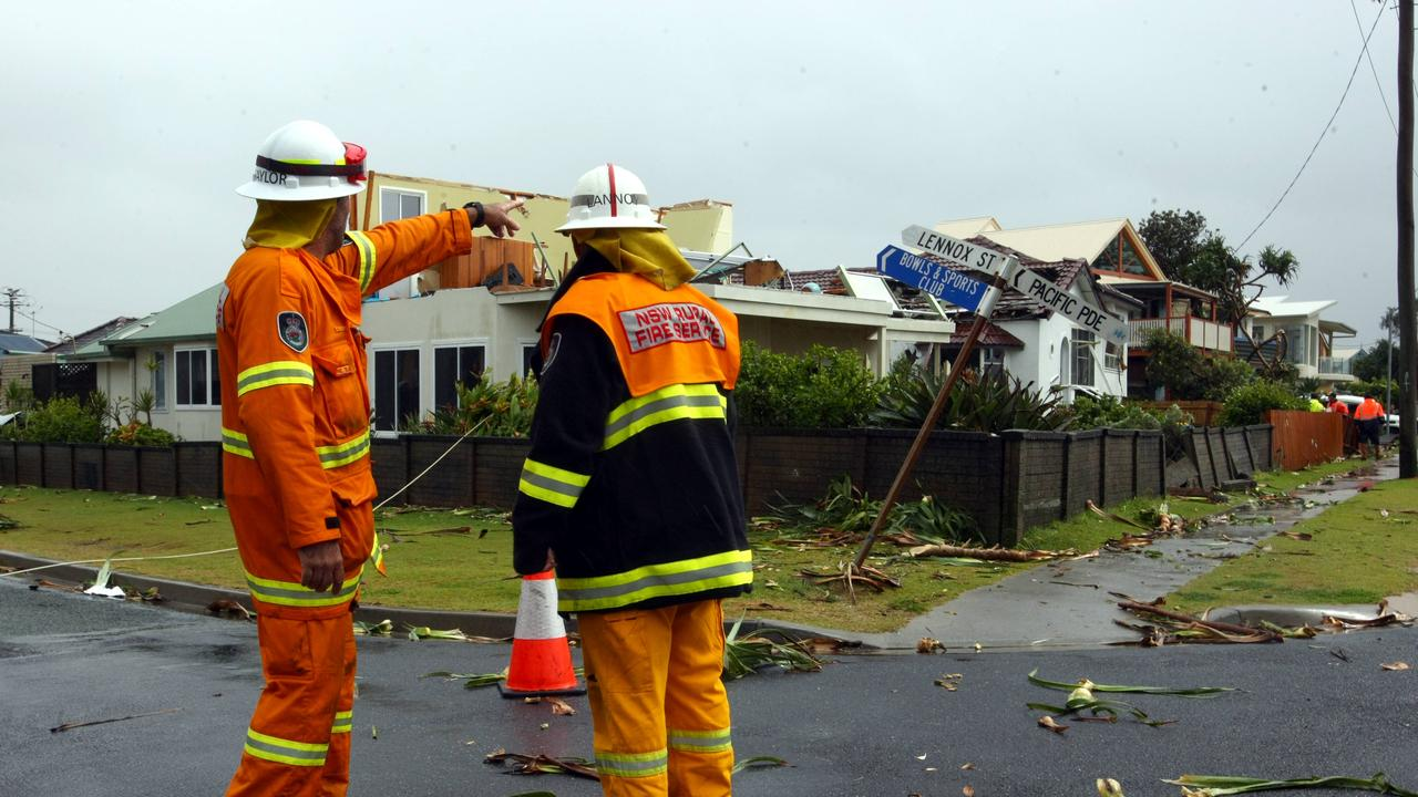 Lennox Head suffered a tornado that carved a path of destruction through the town.