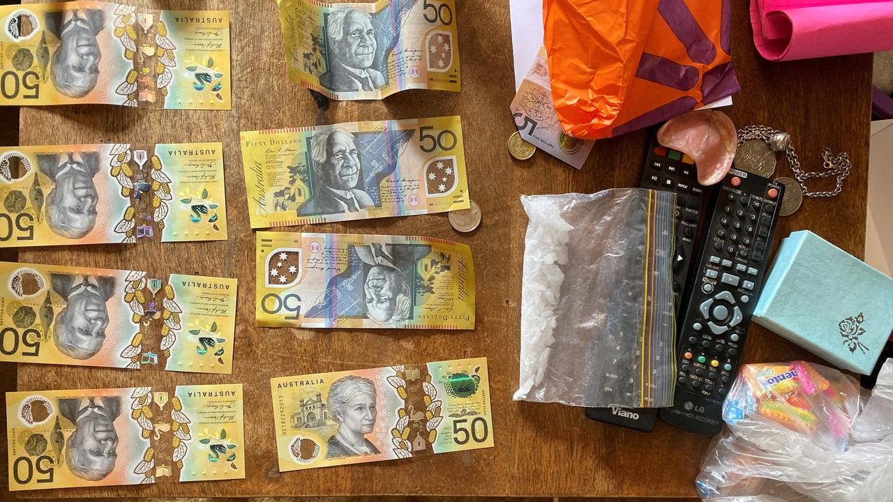 Some of the cash and drugs seized from one of the South Burnett properties during Operation Butza. (Photo: Queensland Police Service)