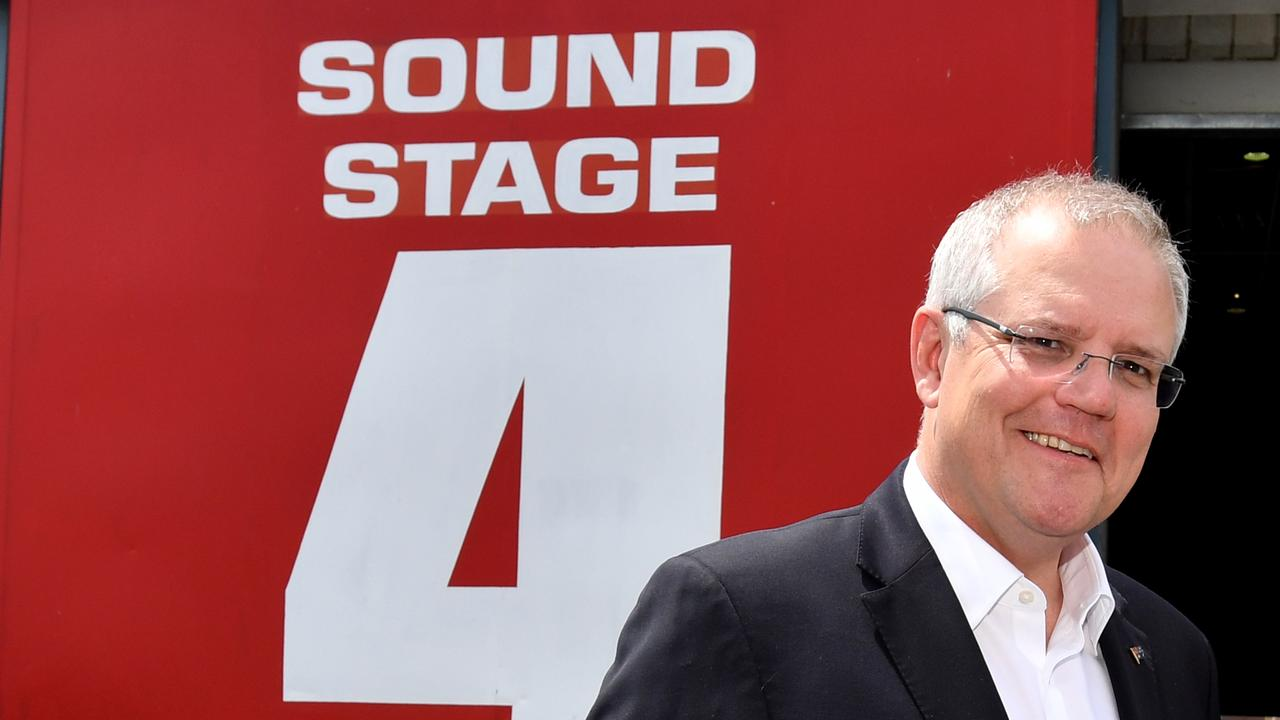 Prime Minister Scott Morrison has been talking with the film and entertainment industry about what is needed for them to restart. Picture: AAP Image/Darren England
