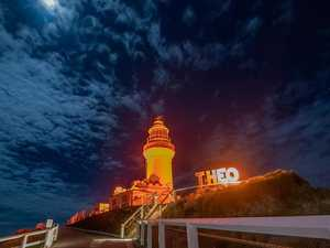 Lighthouse lit up in honour of Theo