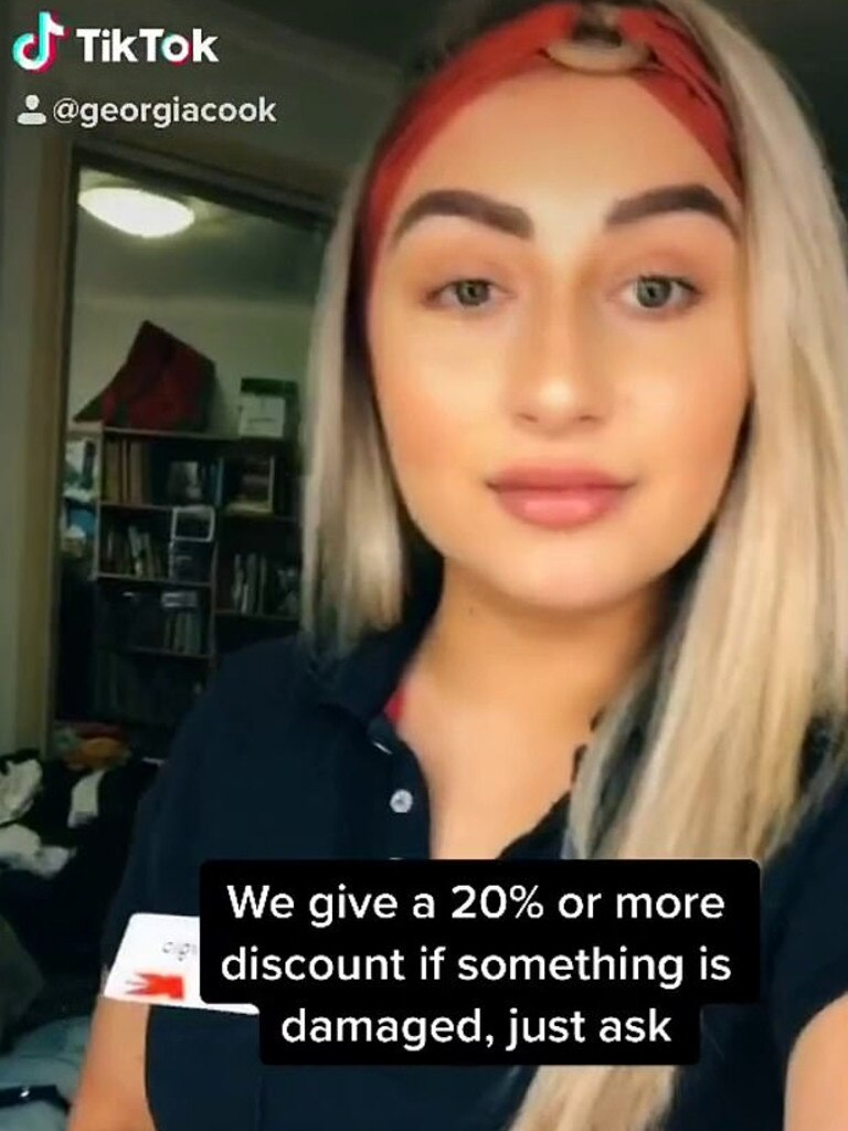 The video quickly went viral, attracting more than 17,000 likes and hundreds of comments. Picture: TikTok / Georgia Cook