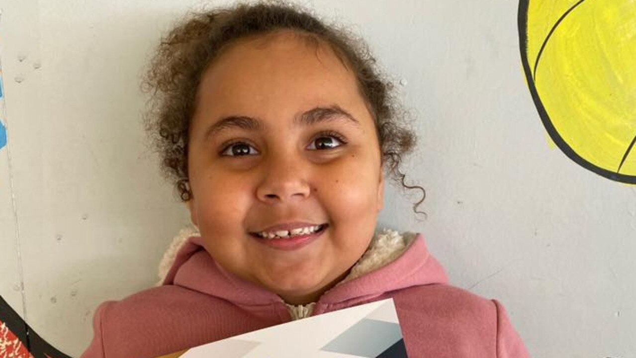 North Eton State School student Latisha Miskin was awarded Aussie of the Month. Picture: Contributed