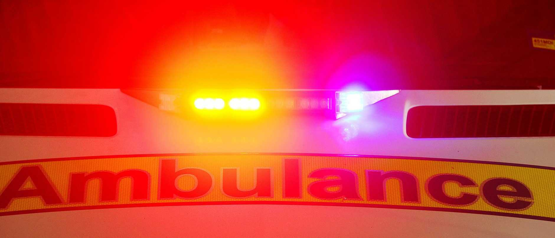A man was injured in a vehicle and cyclist crash at Little Mountain this morning.
