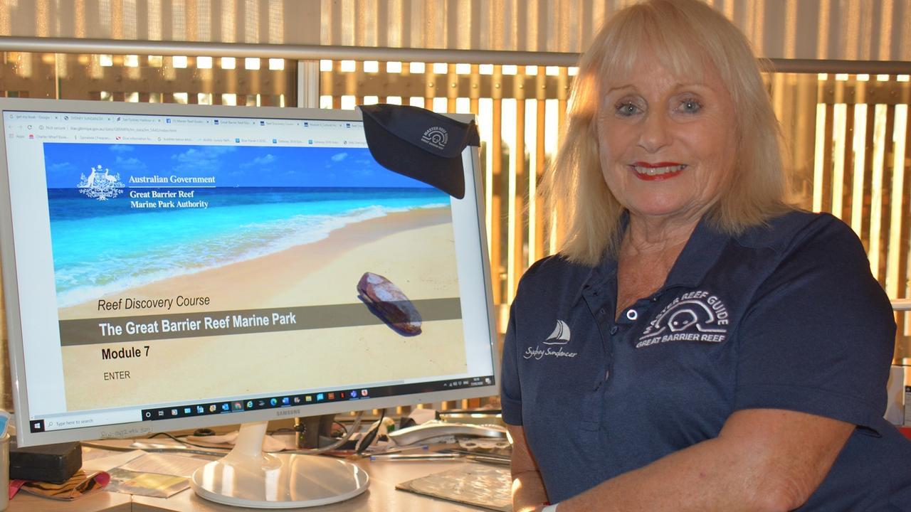 Master Reef guide Lynne Boyce. Picture: GBRMPA and Lynne Boyce