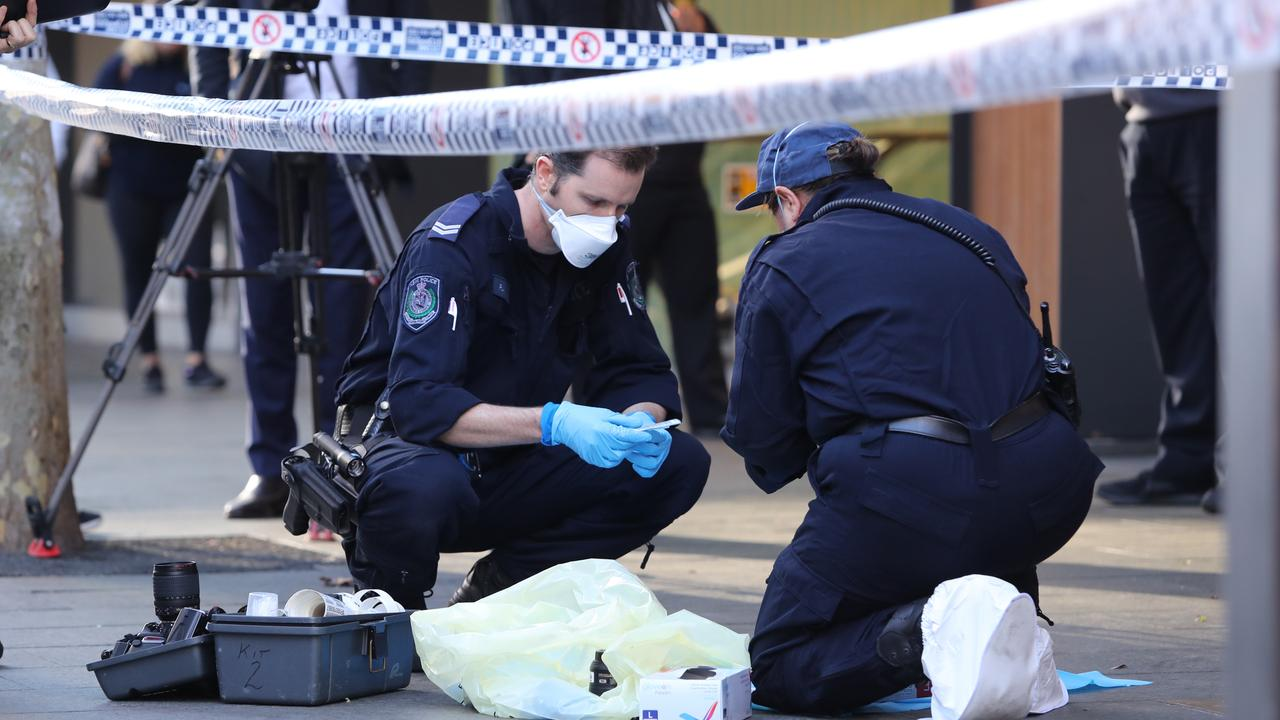 Police are among the frontline workers who would get the $1000 bonus. Picture: Richard Dobson