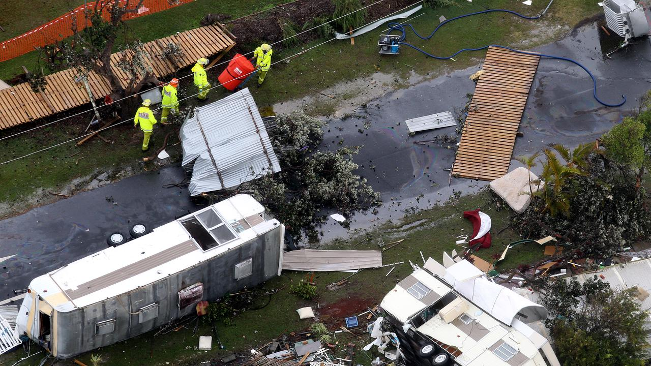 Lennox Head was devastated by a tornado.
