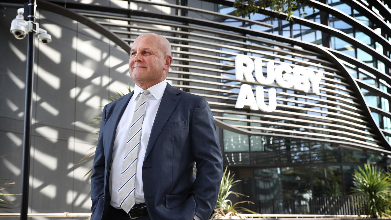 Rugby Australia CEO Rob Clarke pictured out the front of rugby HQ. Picture: Richard Dobson