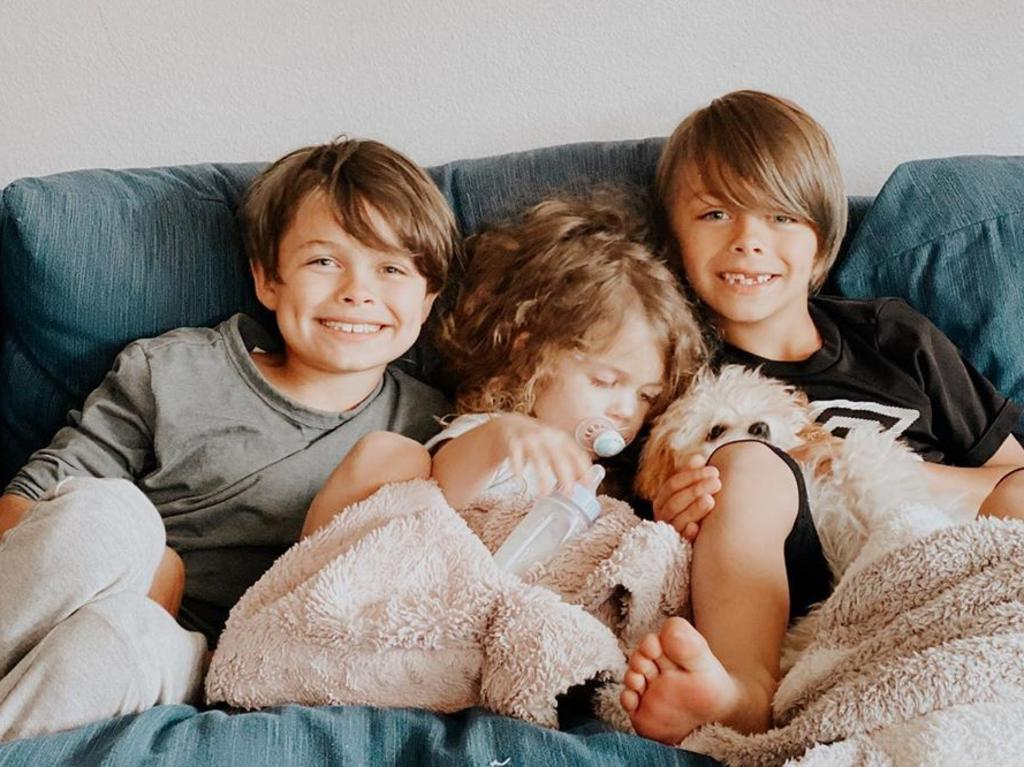 Stevie with her two brothers Wesley and Sawyer. Picture: Instagram.