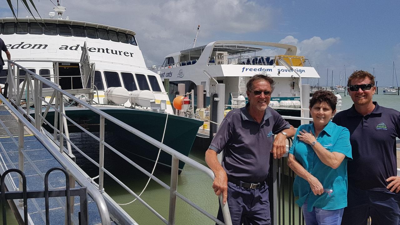 BACK: Max Allen Jnr, pictured with mum Carmel and dad Max Allen Snr are making their return to CQ waters this week.