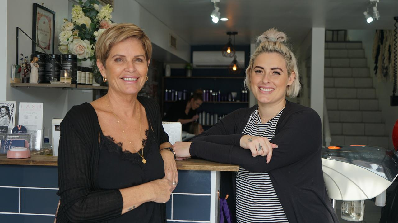Blessed Hair Lounge owners Karen O'Neill and her daughter Casey Kelland.