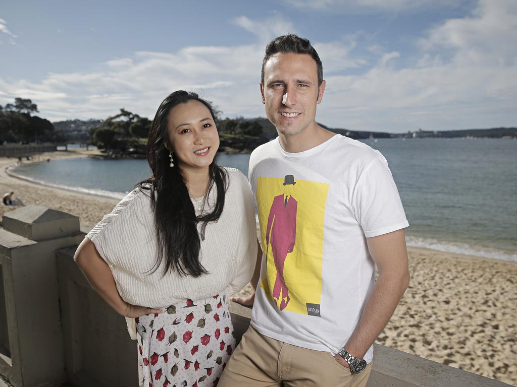 Sophie Meng and her husband Luke Nesbit at Balmoral. Photographer: Adam Yip