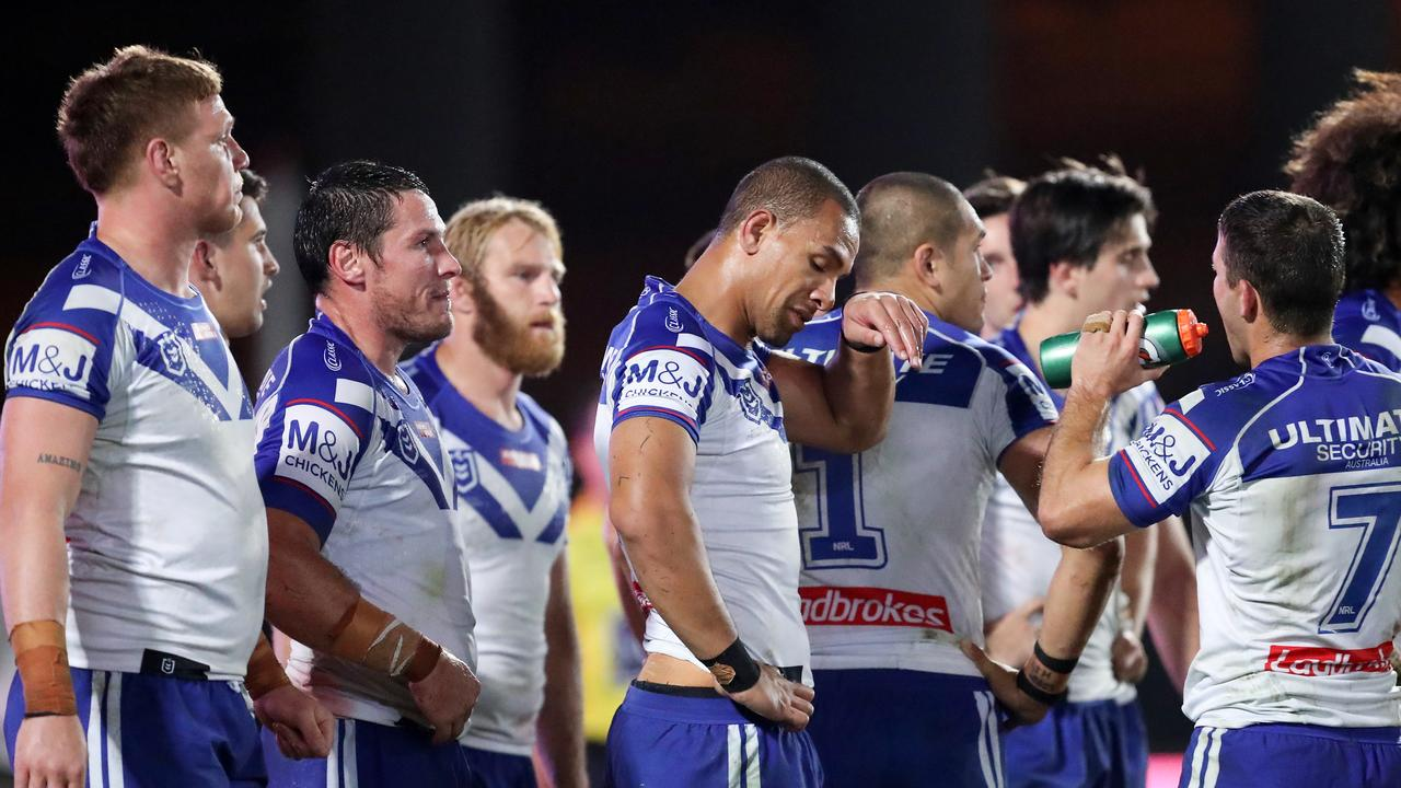 Canterbury were dominated by the Sea Eagles in their round three clash. Picture: AAP