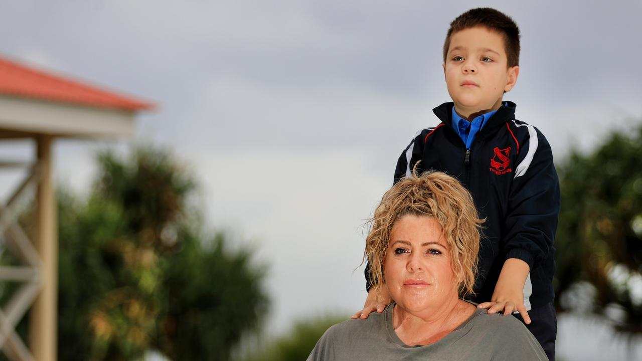 Natalie Quirk and her 7-year-old son Ryan are among the many families suffering every day due to border restrictions. Photo Scott Powick.