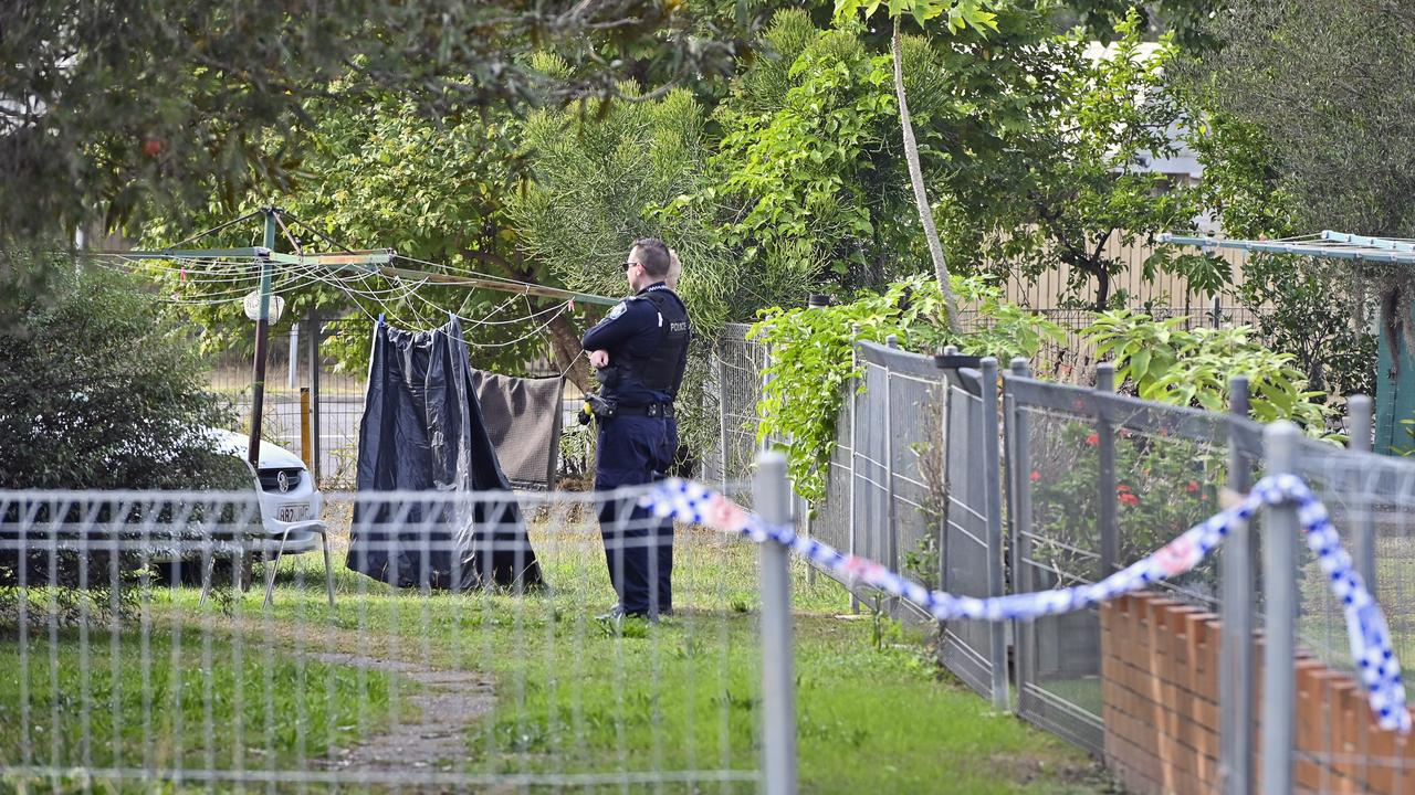 Police have established a crime scene at a Rissman Ct address after a body was found in Woogaroo Creek at Goodna yesterday. Picture: Cordell Richardson