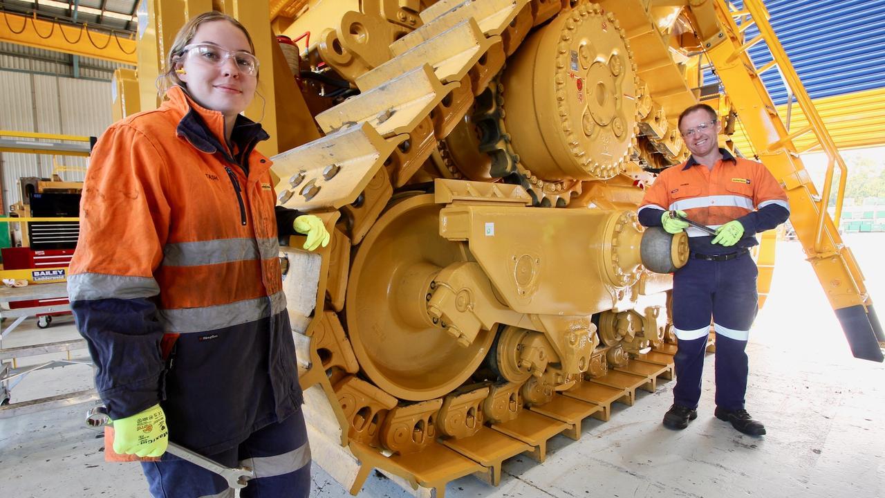 Tash Stark, third year diesel fitter apprentice and Damien Broom first year engine reconditioner apprentice.