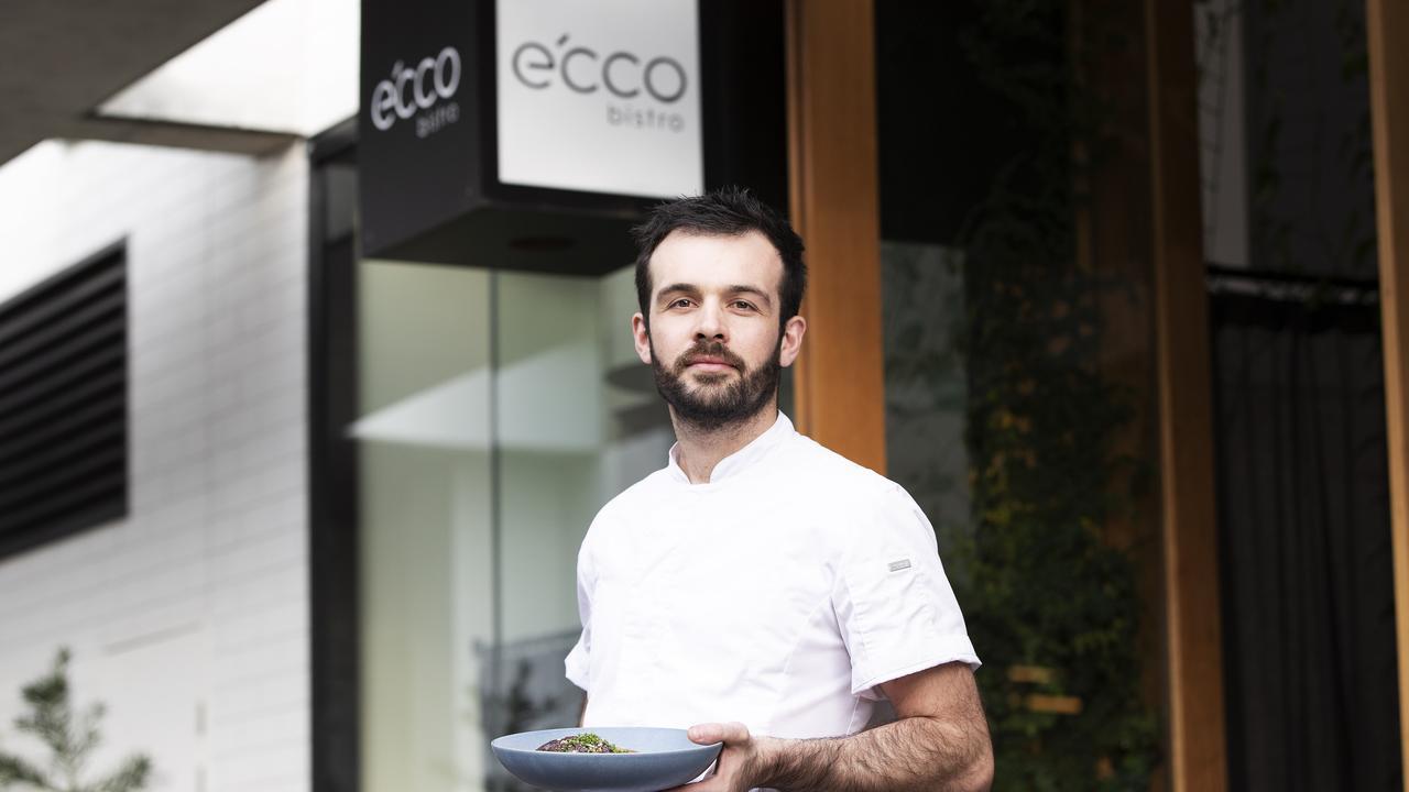 Head chef Antoine Potier at e'cco Bistro. Picture: News Corp/Attila Csaszar