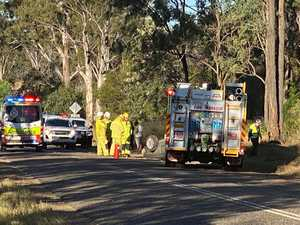 VIDEO: Driver free after rolling car near Kingaroy