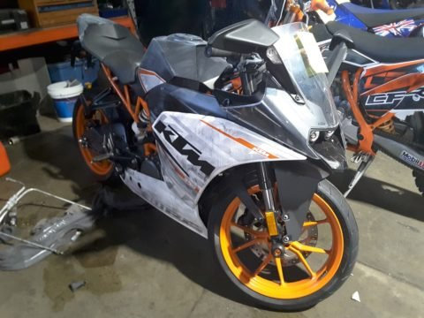 Toowoomba Police are seeking help in locating the owner of an unregistered KTM RC390 motorcycle located in Dalmeny Street, Toowoomba on May 16.