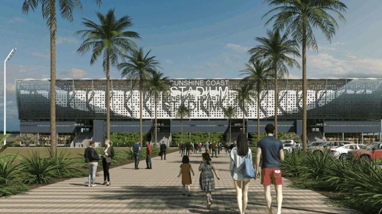 BACK THIS: The proposed upgraded Sunshine Coast stadium.