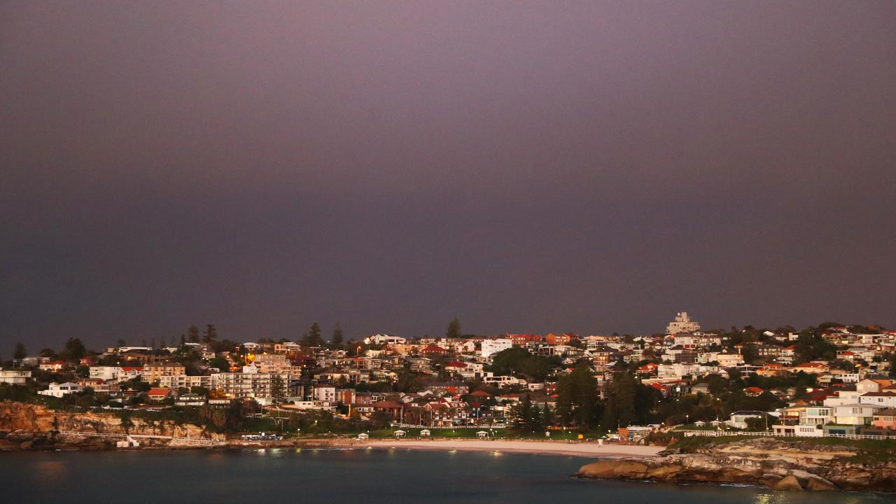 The view to Tamarama on Tuesday morning from Marks Park at south Bondi. Picture: John Grainger