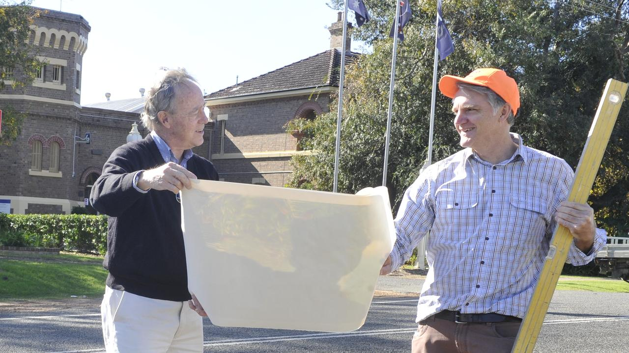 North Coast Community Housing board member Phil Belletty, Grafton businessman Des Harvey and pharmacist Dan Fahey are keen to get to work on a proposal to repurpose the Grafton Correctional Centre.