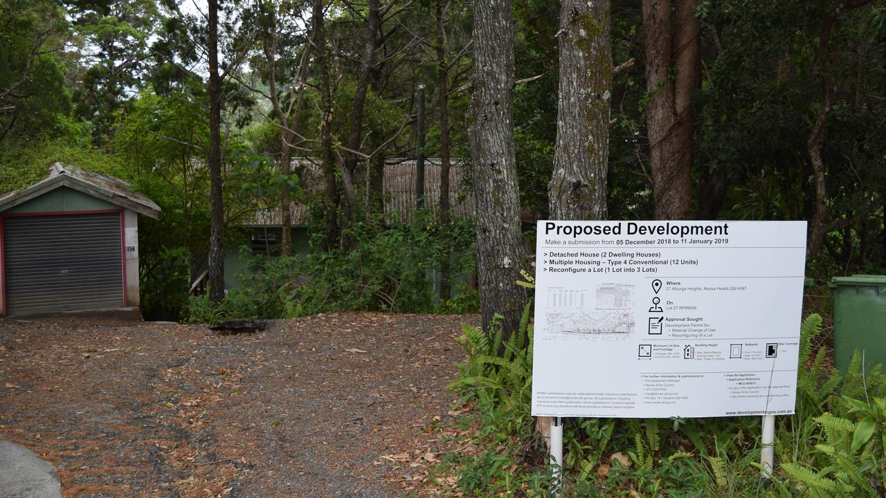 The street frontage of the development site on Noosa Hill. PHOTO: Peter Gardiner