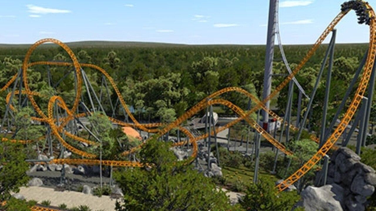 Dreamworld's hyper rollercoaster.