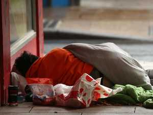 Rough sleepers descend on CBD as Geelong shivers
