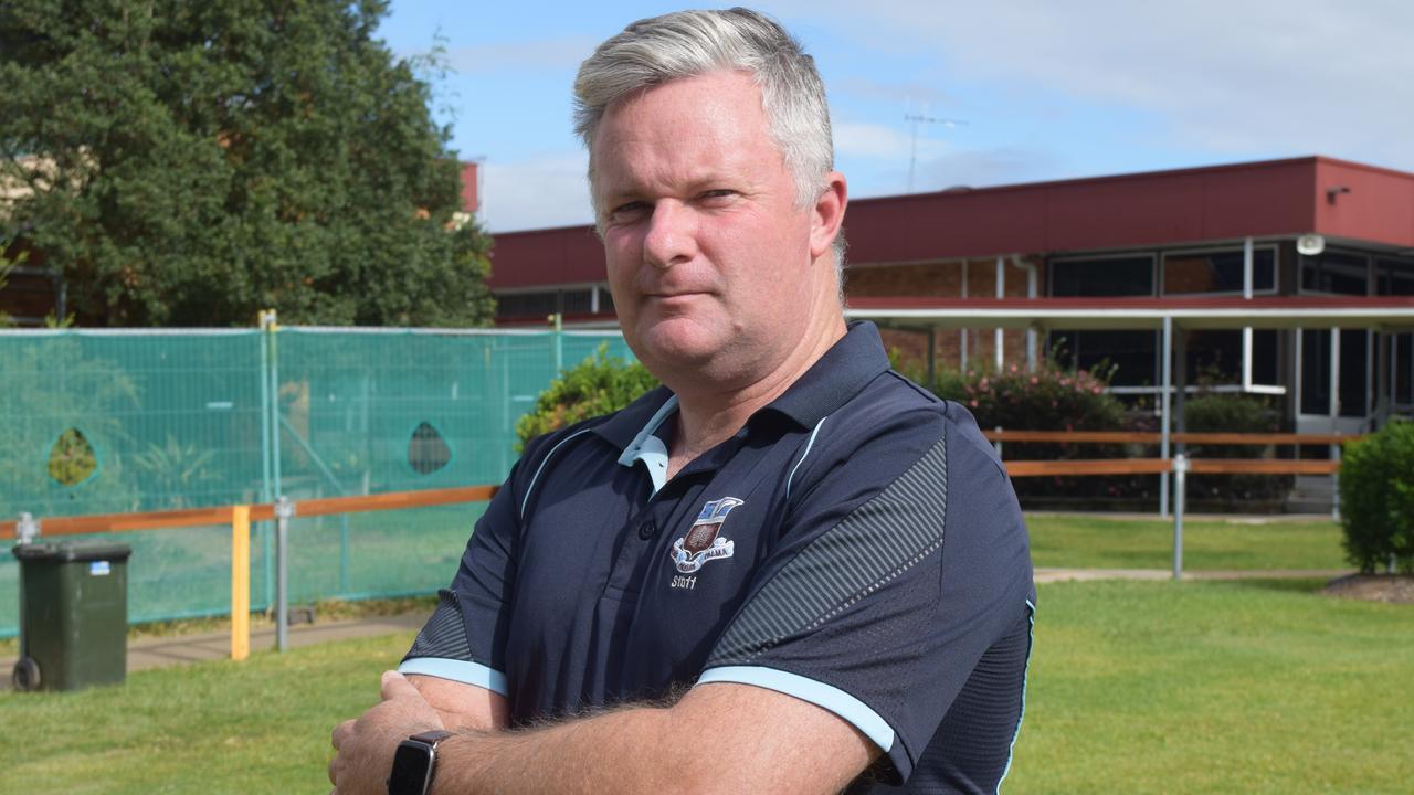 Maryborough State High School Principal Simon Done who has praised the hard work of the school's staff during the coronavirus crisis. Photo: Stuart Fast